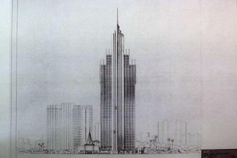 Arquitectura y Empresa Antonio Escario Homenaje hotel bali benidorm dibujo