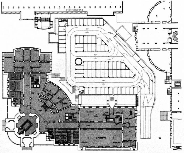 Arquitectura y Empresa Antonio Escario Homenaje rectorado planta