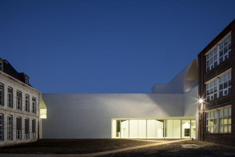 arquitectura_Aries Mateus_facultad arquitectura Bélgica_fachada interior