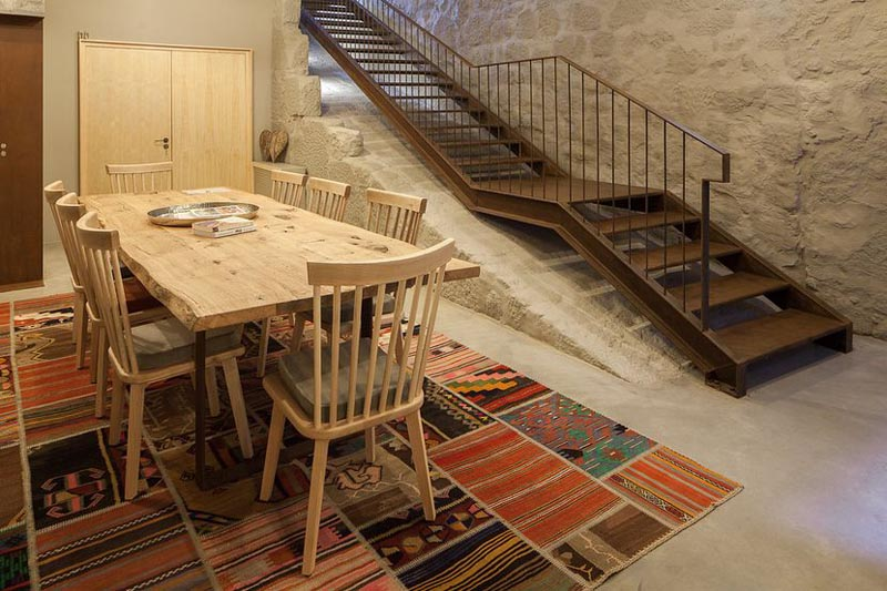 Arquitectura_Hotel armazem_zona de desayunos