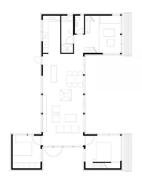 arquitectura_Arne Henriksen_Cabaña Oyna_planta B