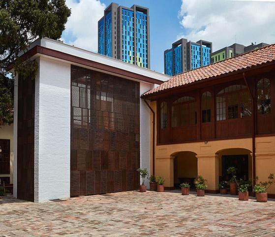 Arquitectura _artesanias_Claustro de Nuestra Señora de Las Aguas_colombia_ambas fachadas antigua y ampliación