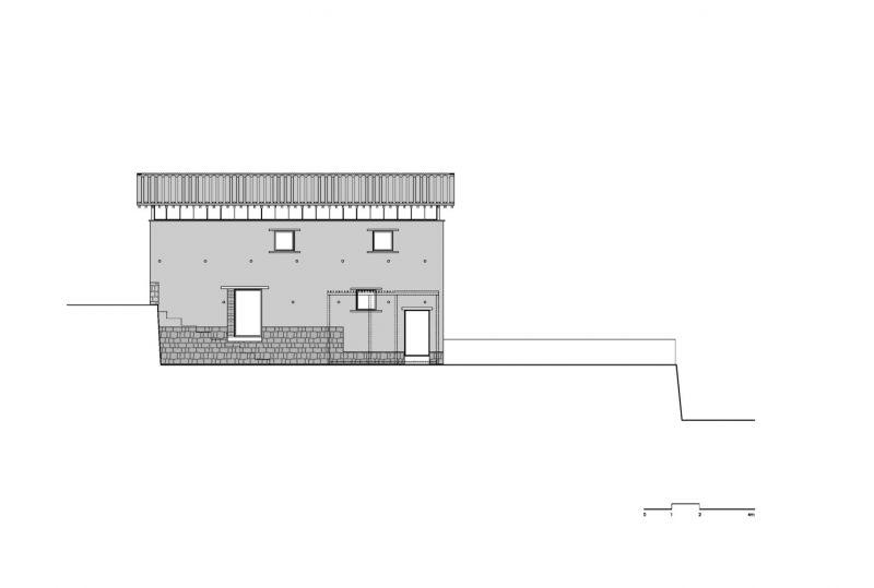 arquitectura_azl_librairie_avant-garde_alzado acceso cafe