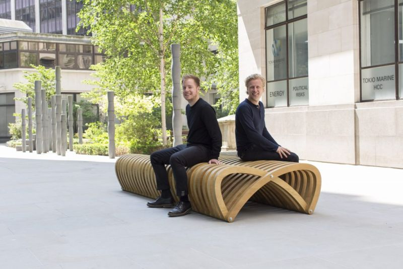 arquitectura_bancos londres festival_Double Bench