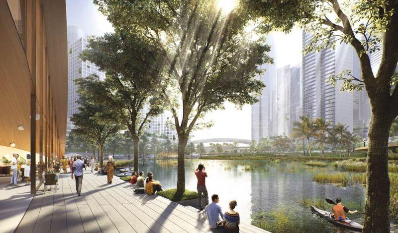 arquitectura bandar malasya eftalia proios render lago jardin