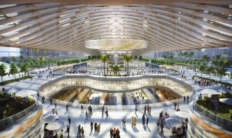 arquitectura bandar malasya eftalia proios render  estacion trenes cubierta