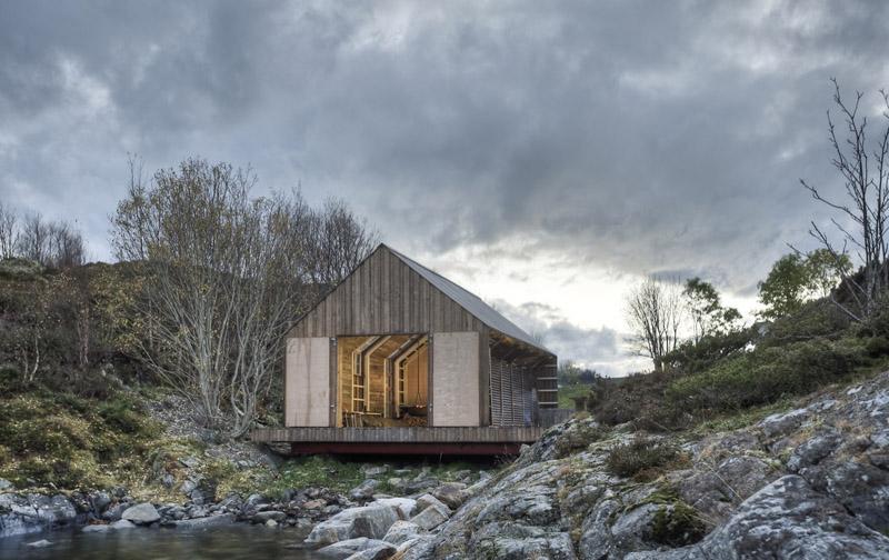 Arquitectura_barco casa TYIN tegnestue _vista del soporte casa barco