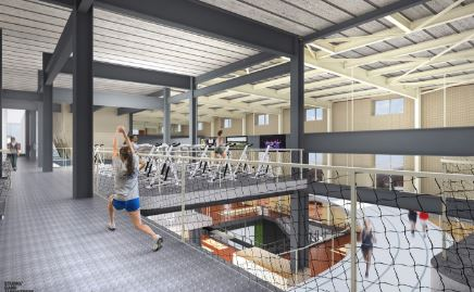 arquitectura_Beloit Powerhouse_gimnasio