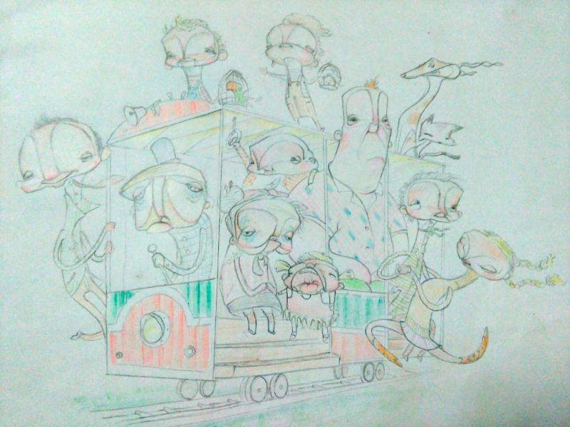 Concurso La falla de las flores falla infantil boceto