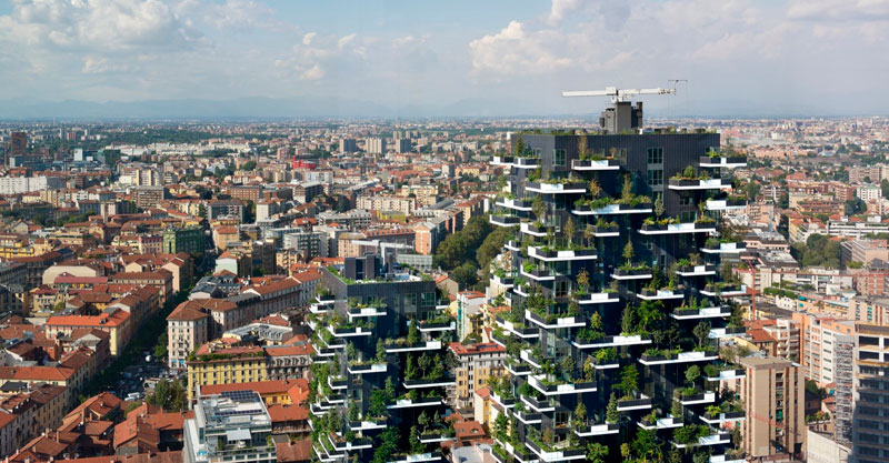 stefano boeri bosque vertical en milan fotografia paolo roselli