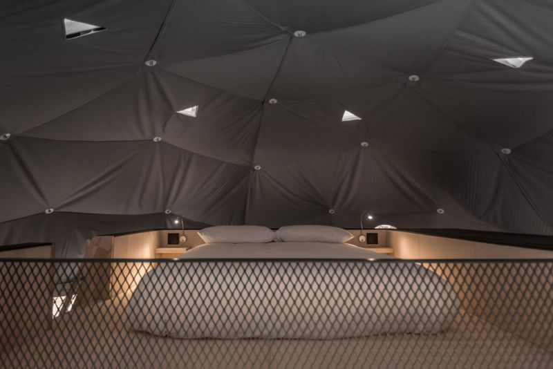 arquitectura Bourgeois/Lechasseur Architectes Dômes Charlevoix fotografia interior altillo