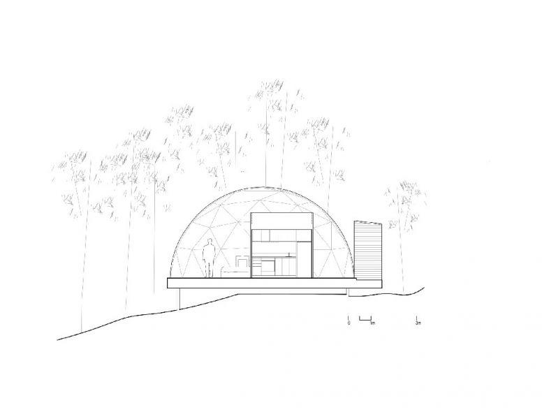 arquitectura Bourgeois/Lechasseur Architectes Dômes Charlevoix seccion