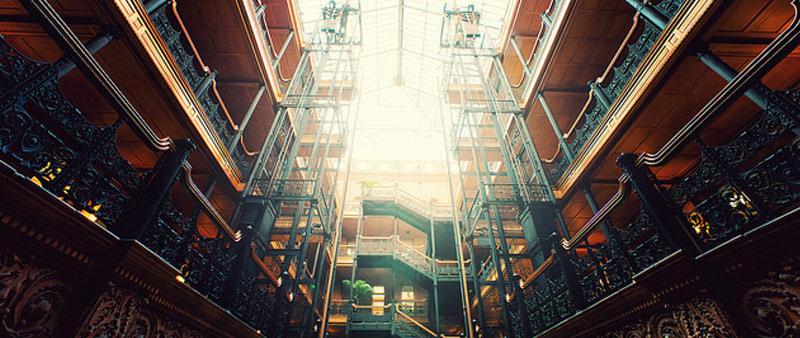 arquitectura, diseño, Bradbury Building, George Herbert Wyman, Sumner Hunt, Lewis Bradbury