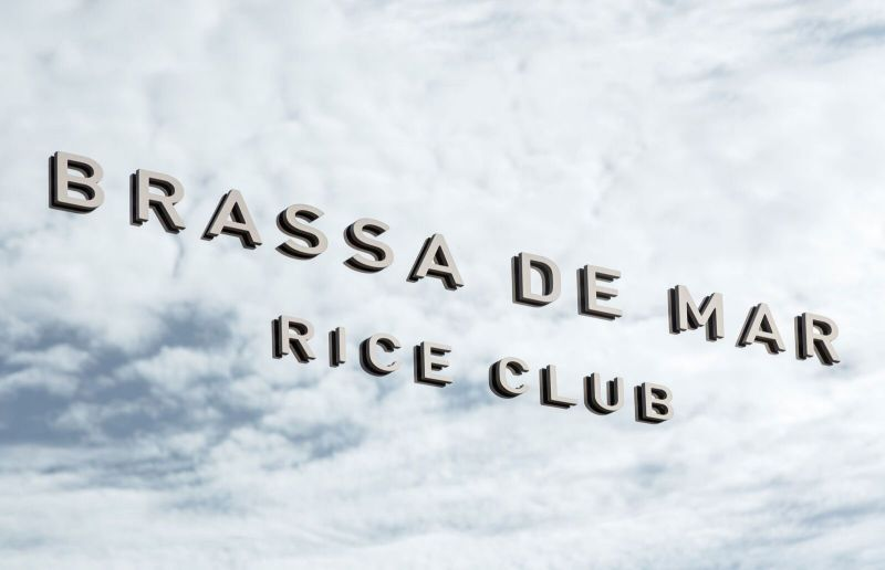 Francesc Rife Brassa a la mar Rice Club Fotografía rotulo