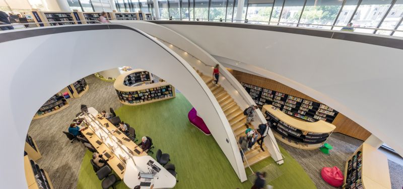 arquitectura_Bunjil-Place_biblioteca