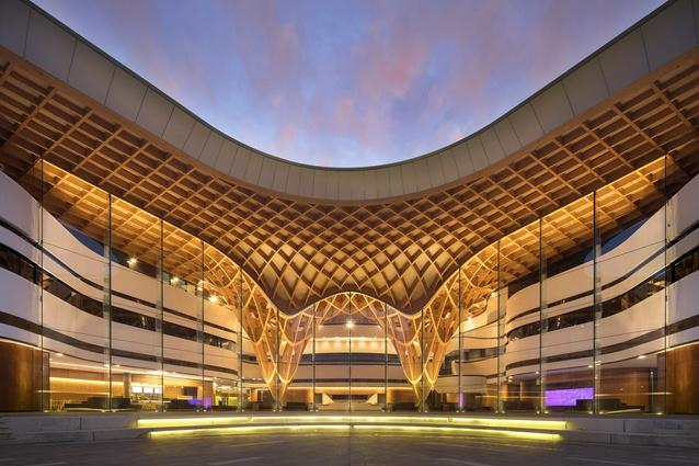 arquitectura_Bunjil-Place_alzado acceso