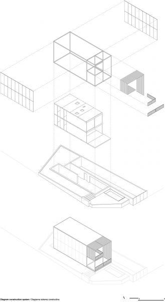 arquitectura BXD Arquitectura casa MG axonometria
