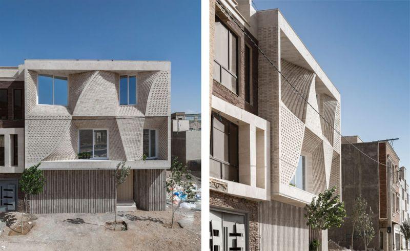 arquitectura CAAT Studio Proyecto Mahallat travertino fotografía Parham Taghioff exterior alzado general