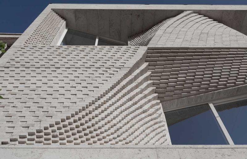 arquitectura CAAT Studio Proyecto Mahallat travertino fotografía Parham Taghioff exterior fachada