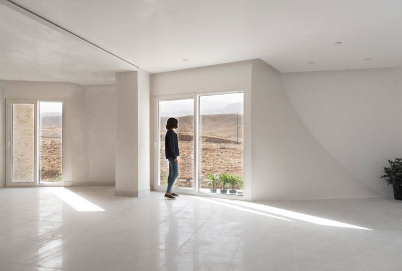 arquitectura CAAT Studio Proyecto Mahallat travertino fotografía Parham Taghioff interior
