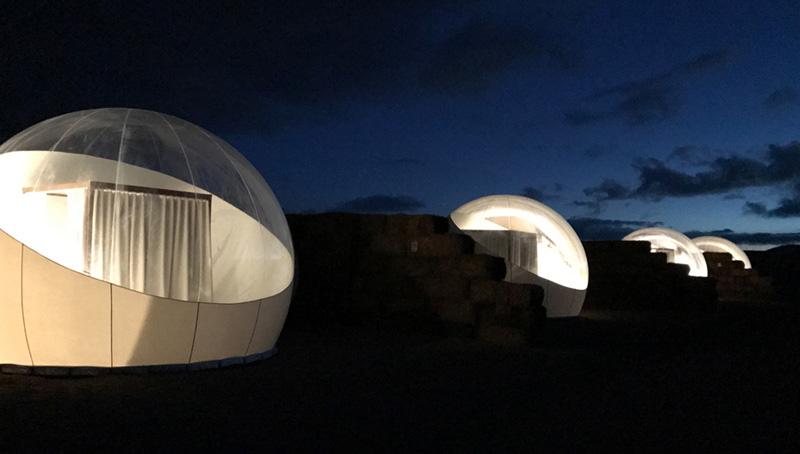 Arquitectura _ Campera Hotel_valle de Guadalupe_vista nocturna