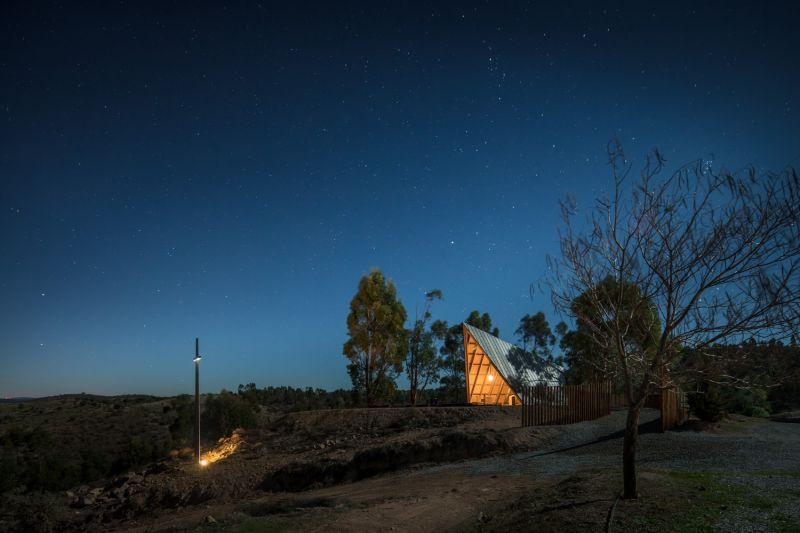 arquitectura_capilla nuestra señora de Fátima_luz noche