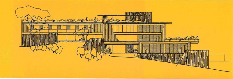 arquitectura_casa-gonzalez-gorrondona_ alzado oeste