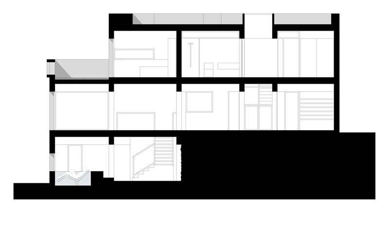 Arquitectura_Casa en el Puerto de la Madera Tacoronte_ seccion