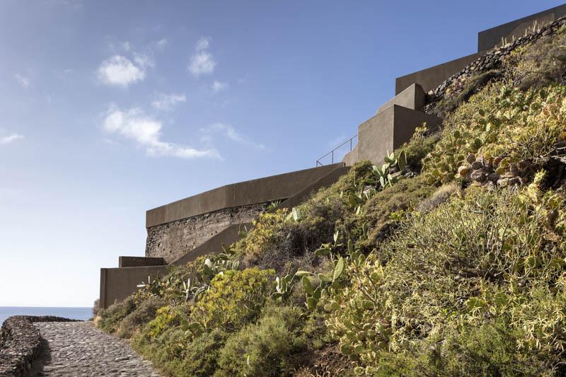 Arquitectura_Casa en el Puerto de la Madera Tacoronte,  vista del topografia del terreno