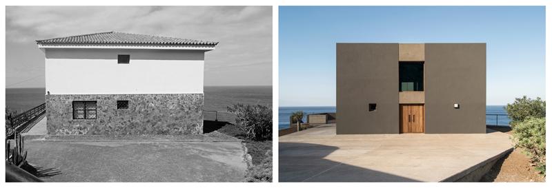 Arquitectura_Casa en el Puerto de la Madera Tacoronte,vista antes y posterior rehabilitación