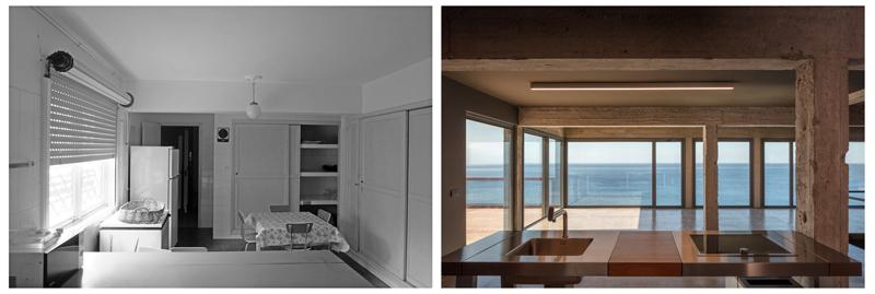 Arquitectura_Casa en el Puerto de la Madera Tacoronte, inerior antes y despues de Rehabilitación