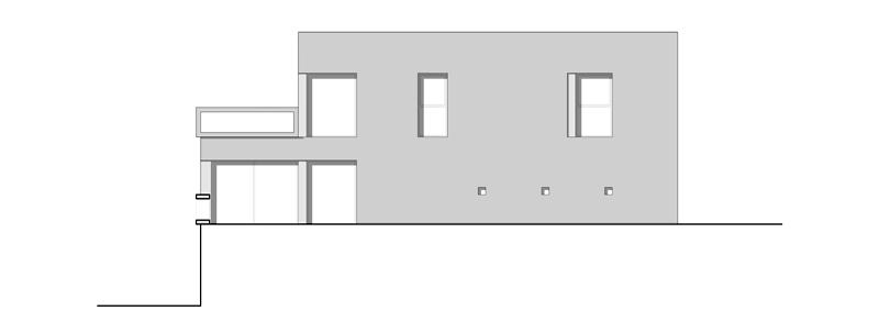 Arquitectura_Casa en el Puerto de la Madera Tacoronte,  alzado 1