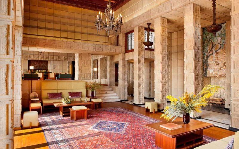 arquitectura casa ennis brown frank lloyd wright fotografia salon