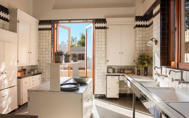 arquitectura casa ennis brown frank lloyd wright fotografia interior cocina