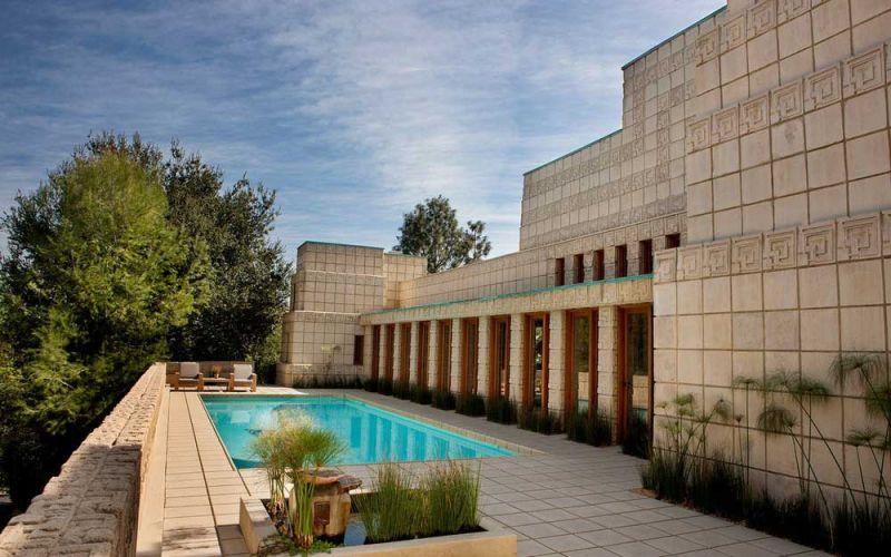 arquitectura casa ennis brown frank lloyd wright fotografia exterior