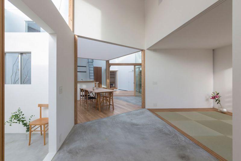 arquitectura Tato Architects Casa en Hokusetsu Fotografía de Shinkenchiku-sha interior recibidor