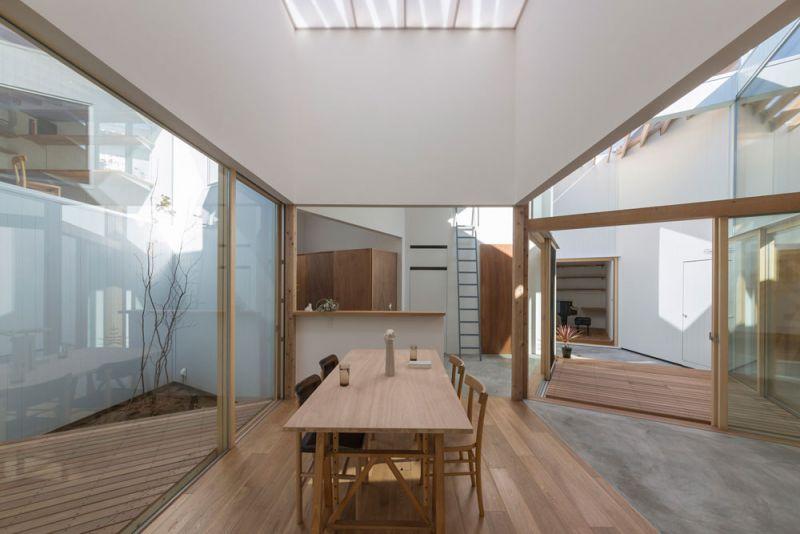 arquitectura Tato Architects Casa en Hokusetsu Fotografía de Shinkenchiku-sha comedor