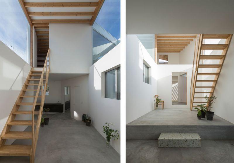arquitectura Tato Architects Casa en Hokusetsu Fotografía de Shinkenchiku-sha escaleras