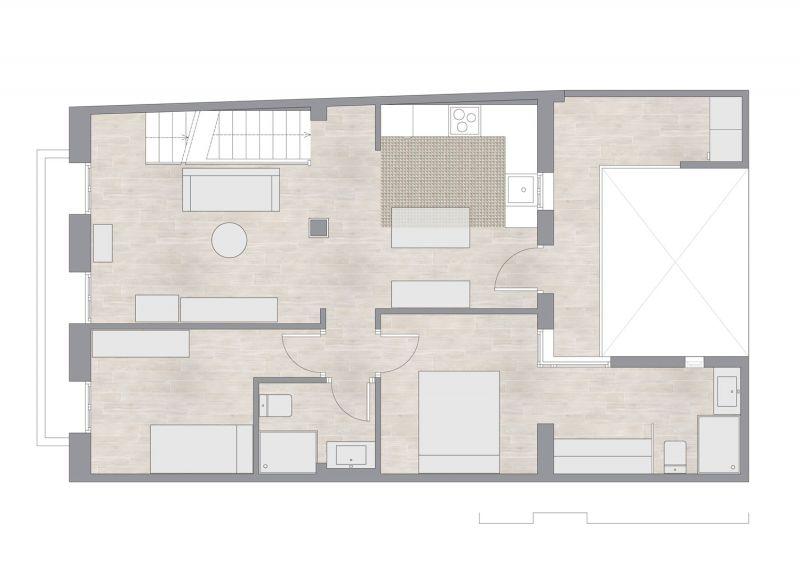 Casa LD de Miguel Torres Aranda + Estudio Veinteporveinte en el cabañal Valencia planta baja