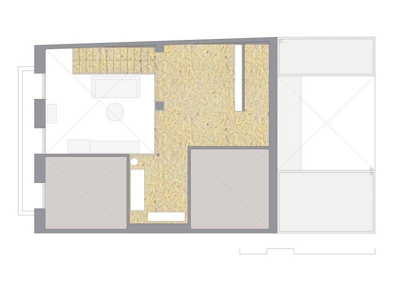 Casa LD de Miguel Torres Aranda + Estudio Veinteporveinte en el cabañal Valencia planta primera