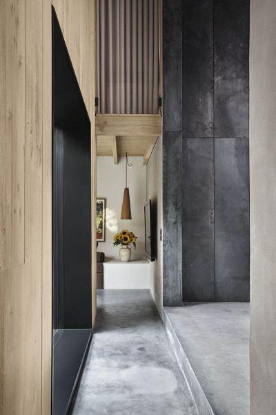 Arquitectura_Casa para Peter Krasilnikoff_ imagen paramento revestido  de acero