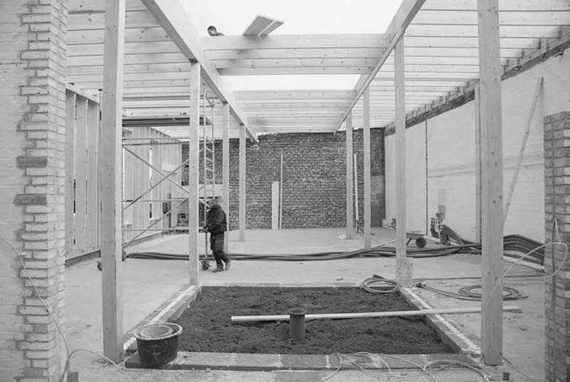 Arquitectura_Casa para Peter Krasilnikoff_imagen intervencion patio