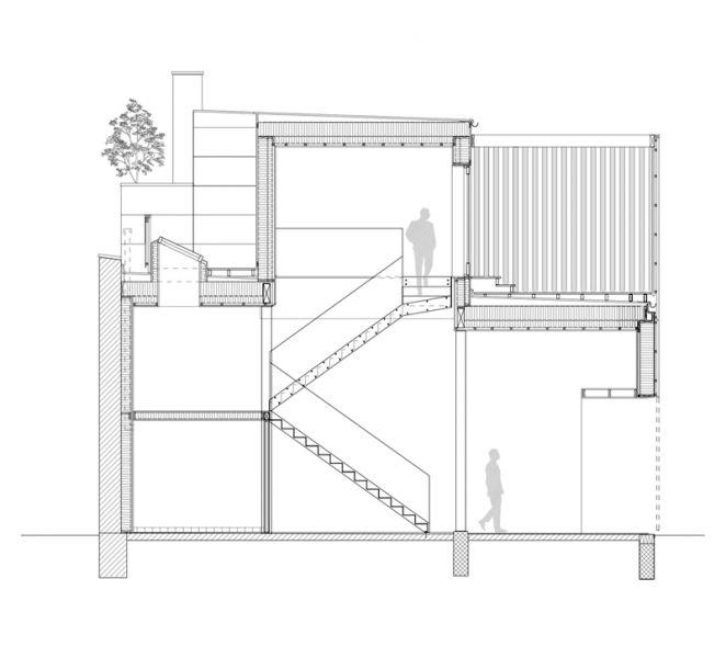 Arquitectura_Casa para Peter Krasilnikoff_seccion b