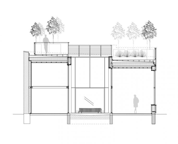 Arquitectura_Casa para Peter Krasilnikoff_seccion a