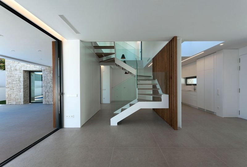 arquitectura casa wedge antonio altarriba CHE fotografía de Diego Opazo interior escalera