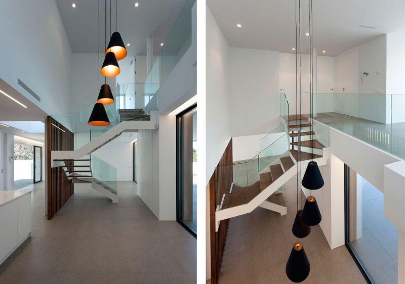 arquitectura casa wedge antonio altarriba CHE fotografía de Diego Opazo interior escalera detalles