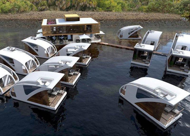 arquitectura_Catamaran-Apartmen_FloatingHotel_vista de los dos muelles