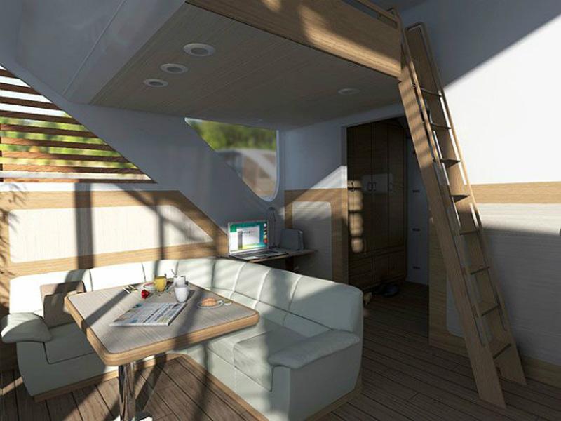 arquitectura_Catamaran-Apartmen_FloatingHotel_acceso a parte superior