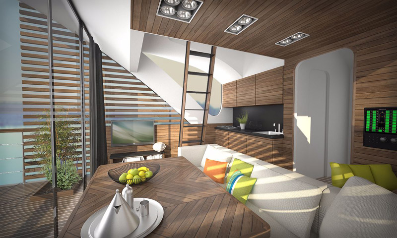 arquitectura_Catamaran-Apartmen_FloatingHotel_interior de catamaran
