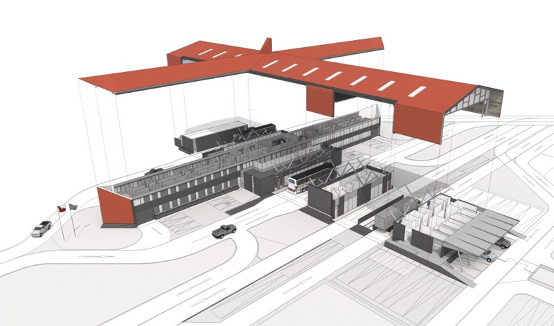arquitectura_Centro Huemules_chile_PERSPECTIVA del proyecto